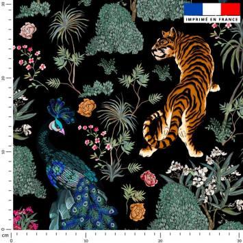 Tiger asiatique - Fond noir