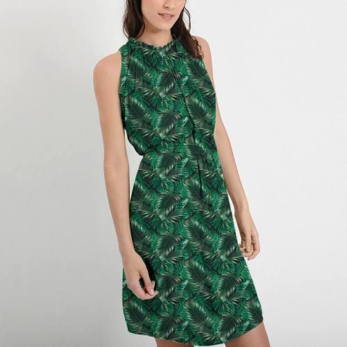 Feuilles de palmier vertes - Fond noir