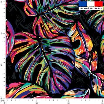 Jungle pop multicolore - Fond noir