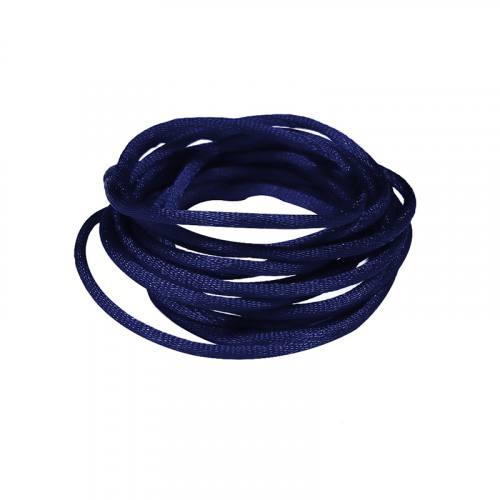 Cordon queue de rat bleu marine 2 mm
