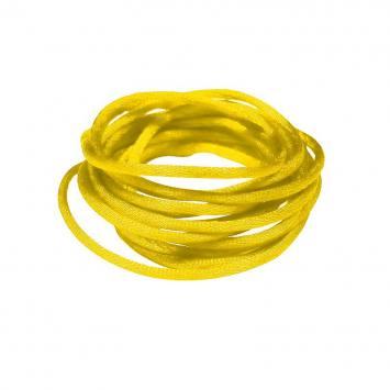 Cordon queue de rat jaune 2 mm