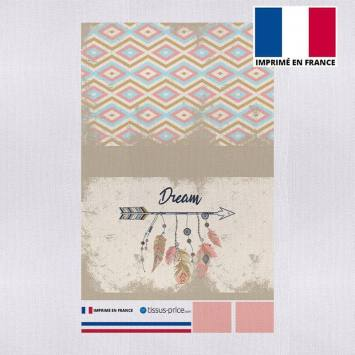 Kit pochette beige motif dream