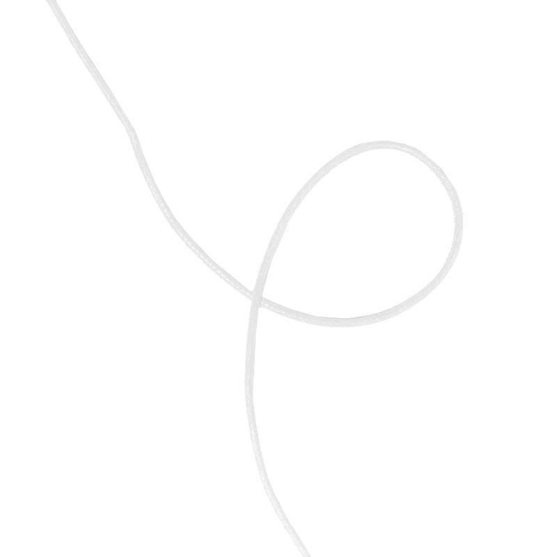 Cordelière aspect cuir blanc 2 mm