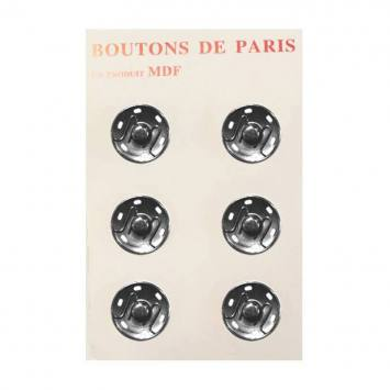 Boutons pression 30 mm nickelés X6