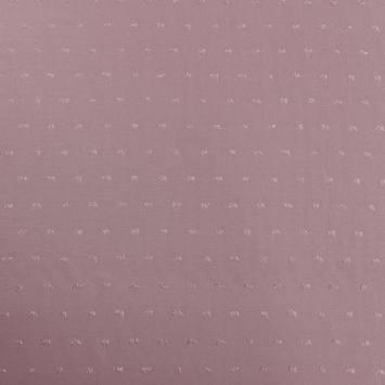 Tissu viscose plumetis lilas
