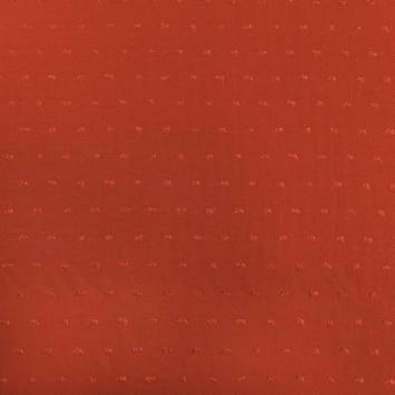 Tissu viscose plumetis orange