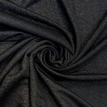 Tissu viscose brillant noir
