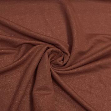 Tissu viscose brillant marron