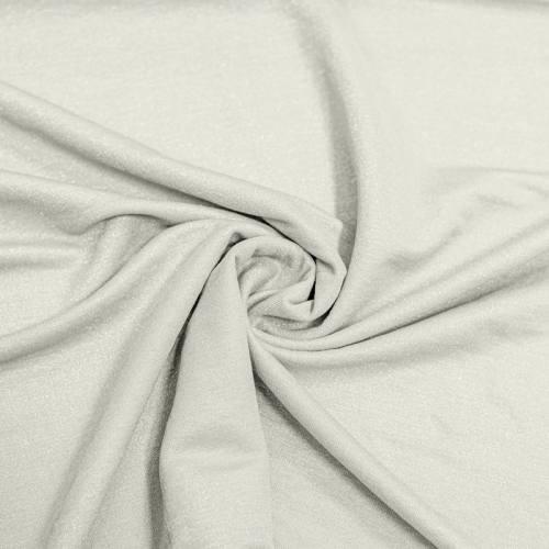 Tissu viscose brillant écru