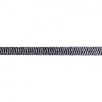 Ruban chevron métallique noir argenté