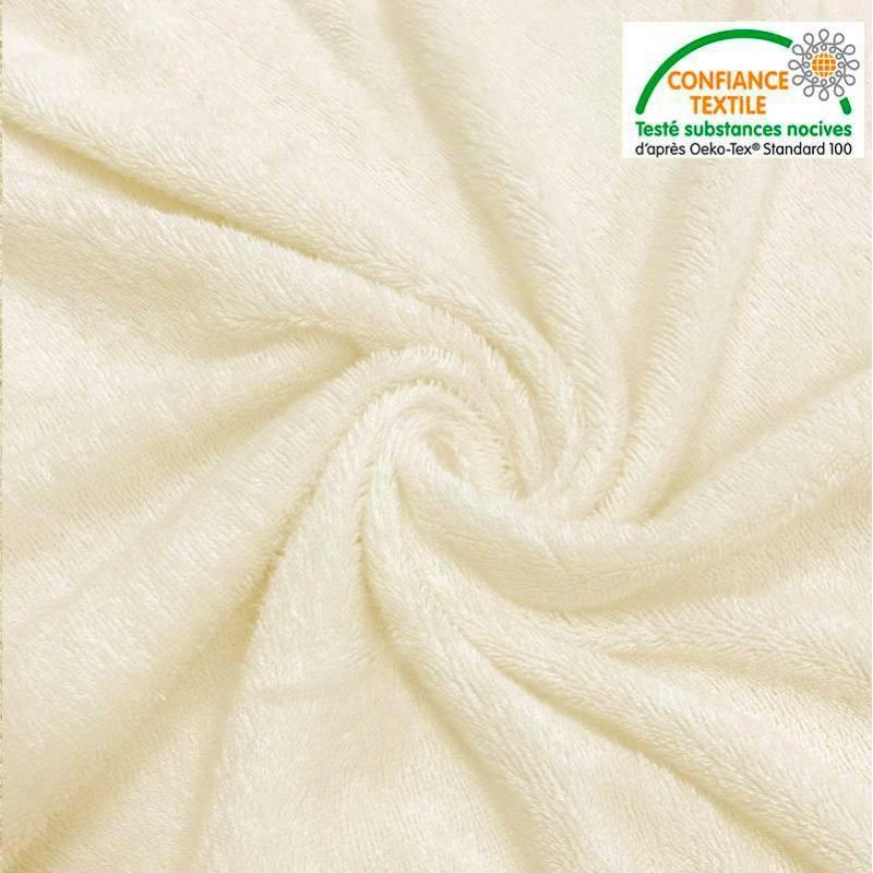 Tissu éponge bambou couleur naturelle