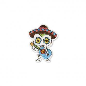 Écusson brodé calavera et sombrero mexicain