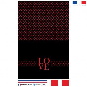 Kit pochette noir motif LOVE