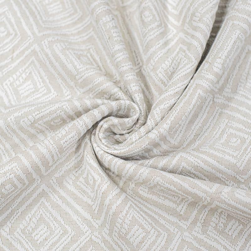 Tissu jacquard grande largeur couleur naturelle motif aztèque