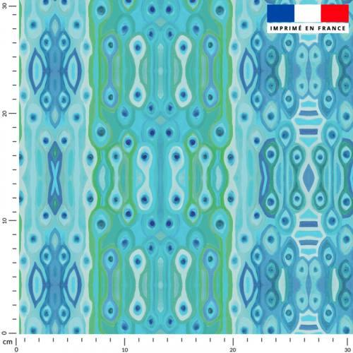 Oeil ethnique - Fond bleu - Création Lita Blanc