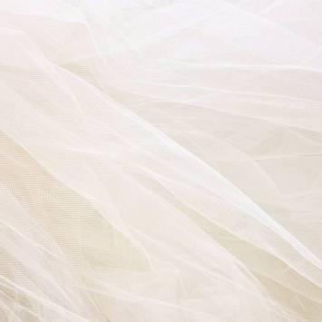 Tulle couleur ivoire pour robe de mariée grande largeur