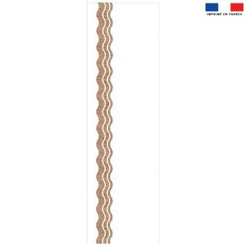 Coupon 45x150 cm tissu imperméable motif waves effet liège pour transat