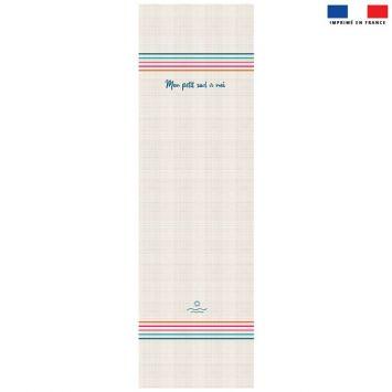 Coupon 45x150 cm tissu imperméable motif Sud pour transat