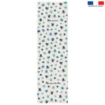 Coupon 45x150 cm tissu imperméable motif tortue de mer pour transat