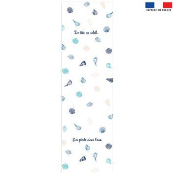 Coupon 45x150 cm tissu imperméable motif coquillages pour transat