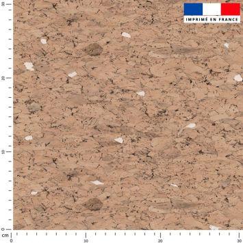 Tissu imperméable motif effet texture liège