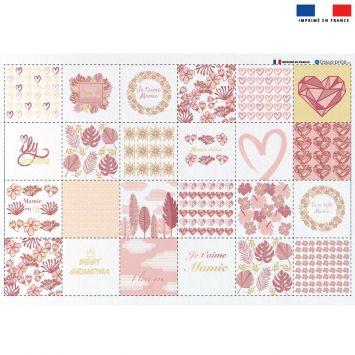 Coupon éponge pour lingettes démaquillantes motif super mamie pink & gold