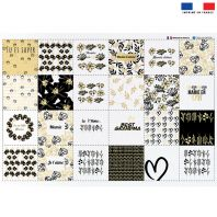 Coupon éponge pour lingettes démaquillantes motif super mamie black & gold