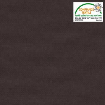 coupon - Coupon 56cm - Toile coton marron glacé grande largeur