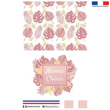 Kit pochette rose motif mamie chérie