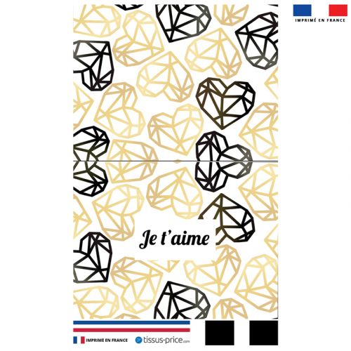 Kit pochette gold motif je t'aime black & gold