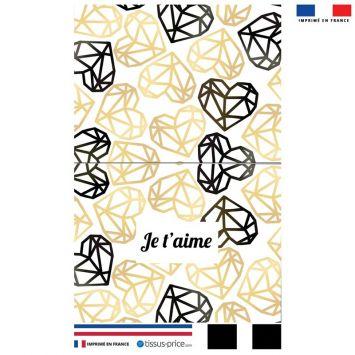 Kit pochette gold motif je t'aime black