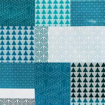 Toile cirée motif géométrique