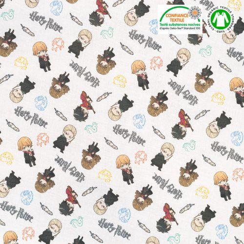 Coton bio motif Harry Potter Oeko-tex
