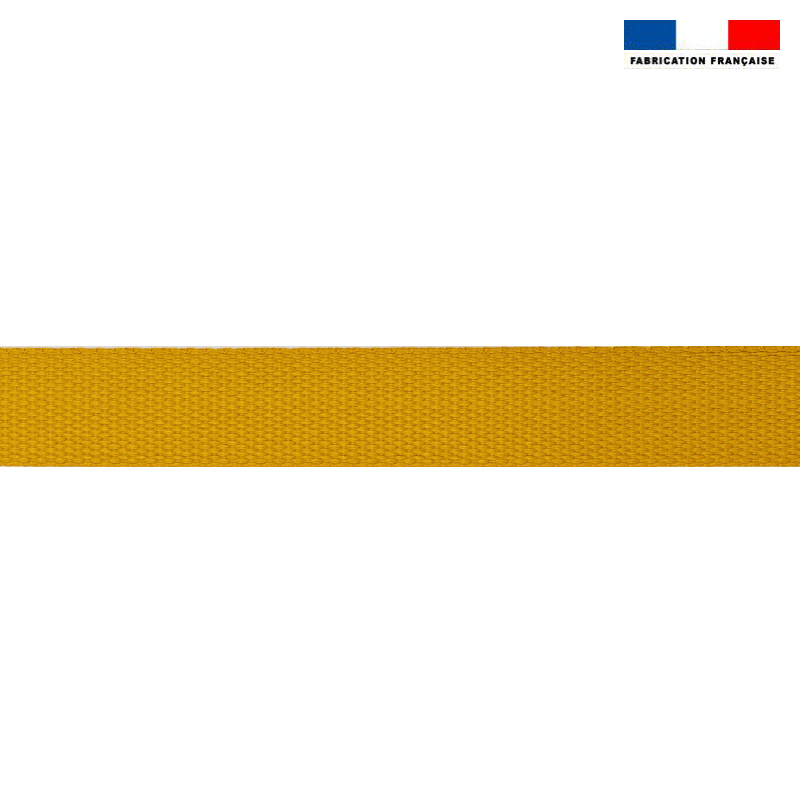 Sangle polyester aspect coton 30mm ocre