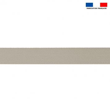 Sangle polyester aspect coton 30mm gris clair