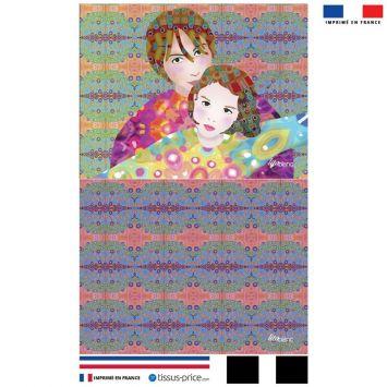 Kit pochette motif diva duo - Création Lita Blanc