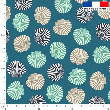 Coquillages - Fond bleu