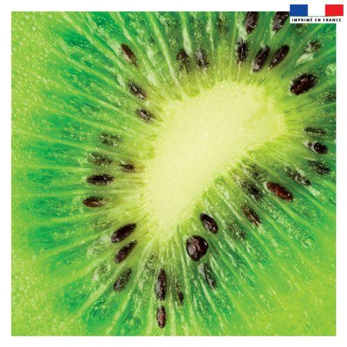 Coupon 45x45 cm vert motif kiwi