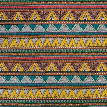 Simili cuir multicolore motif chevrons jaunes