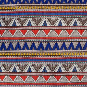 Simili cuir multicolore motif chevrons bleus