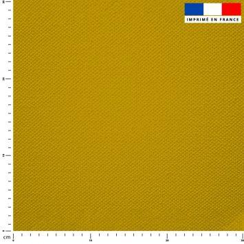 Tissu imperméable jaune miel uni