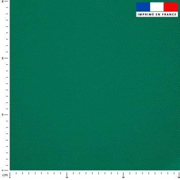 Tissu imperméable vert émeraude uni