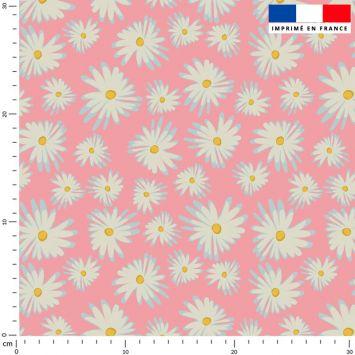 Marguerite - Fond rose - Création Julia Amorós