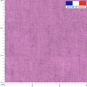 Tissu imperméable aspect lin lilas