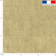 Tissu imperméable aspect lin jaune pastel