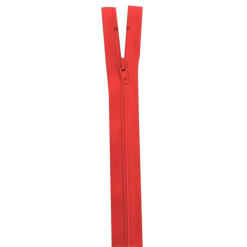 Fermeture rouge groseille 40 cm non séparable col 820