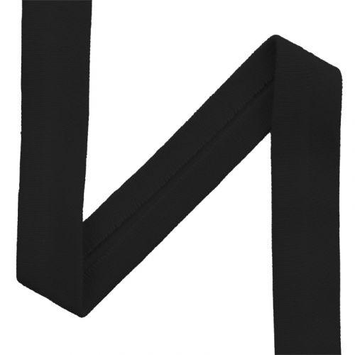 Biais jersey noir 20mm