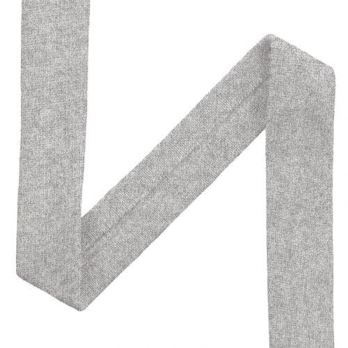 Biais jersey gris chiné clair 20mm