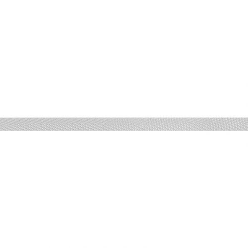Ruban sergé polyester 10 mm argent