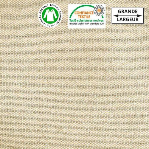 Toile coton bio épaisse naturelle grande largeur